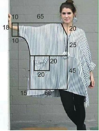 Si de vez en cuando te gusta lucir un estilo bohemio, esta blusa modelo túnica con patrón que te traemos para las manualidades en costura del día es justo para ti, modelo que además te sirve para hacer un vestido en caso así lo desees, solo agrega al patrón los centímetros extra que gustes según …