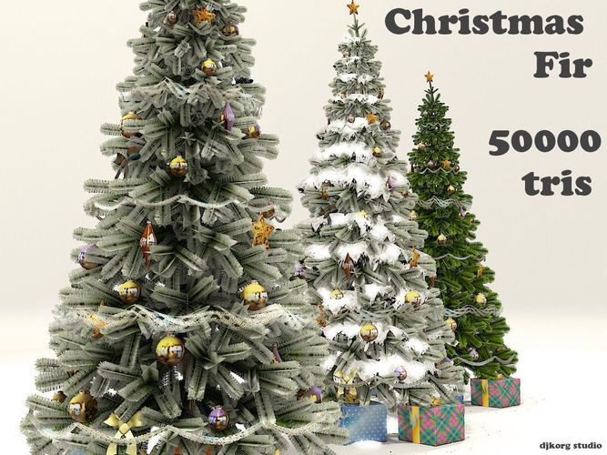 Christmas Fir 3d Model Christmas Tree Collection 3d Model Christmas