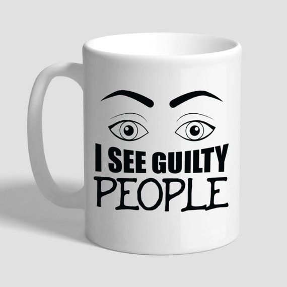 I See Guilty People Lawyer Coffee Mug Gift Gifts