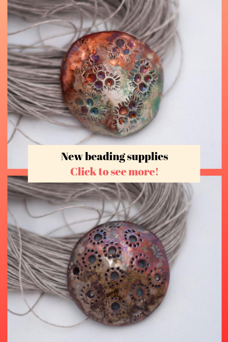 ceramic cabochon jewelry supplies raku ceramic bead Ceramic round bead OOAK jewelry accessories beading making beading accessories