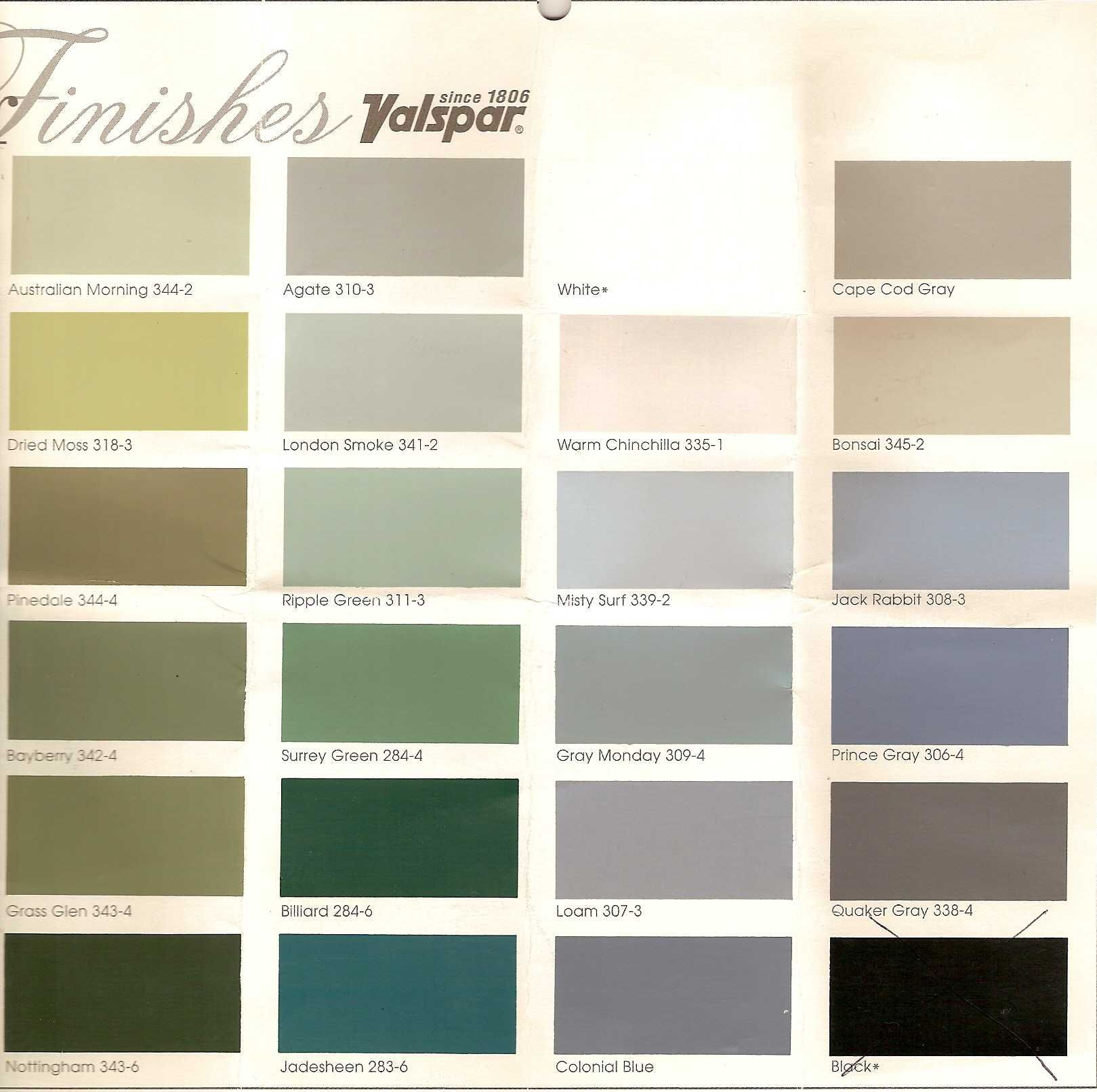 Valspar Tradition House Paint Colors - Palette 22