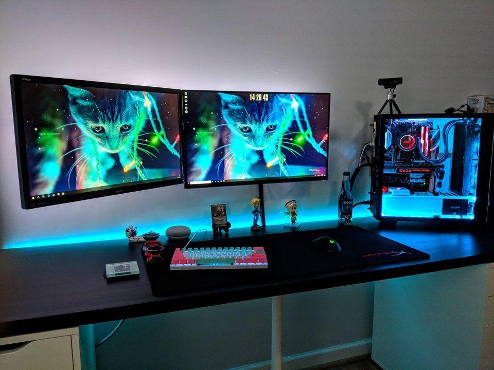 Cool Gaming Set Up Via Reddit Gamer Room Diy Gaming Room Setup Best Gaming Setup