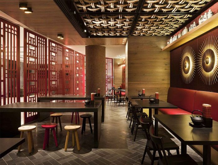 Anese Asian Restaurant Lighting Color Theme Textures