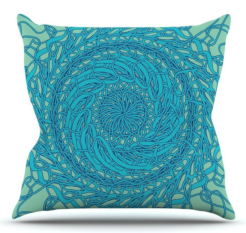 Mandala Spin by Patternmuse Throw Pillow