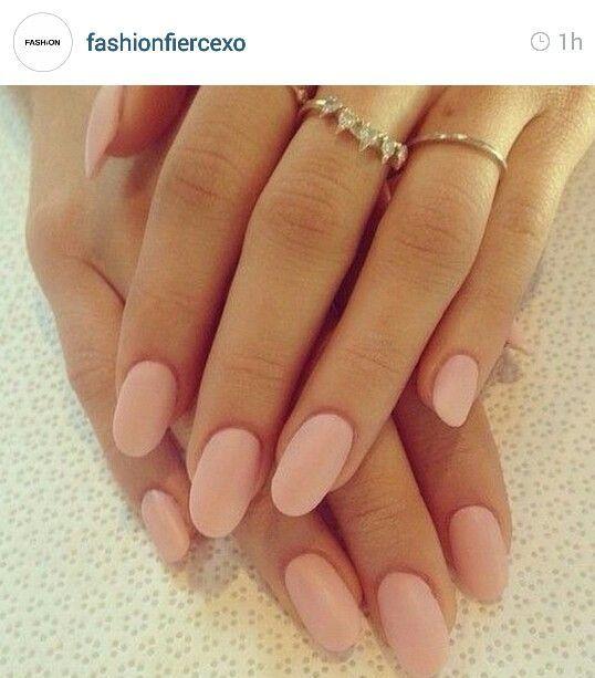 Ovalnails Matte Pink Nails Pink Nails Swag Nails