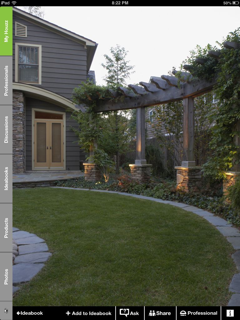 Great way to shape an outdoor space and detract from fence line