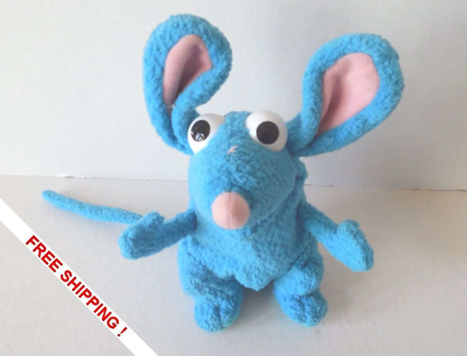 Bear In The Big Blue House 5 Plush Tutter Mouse Plastic Eyes