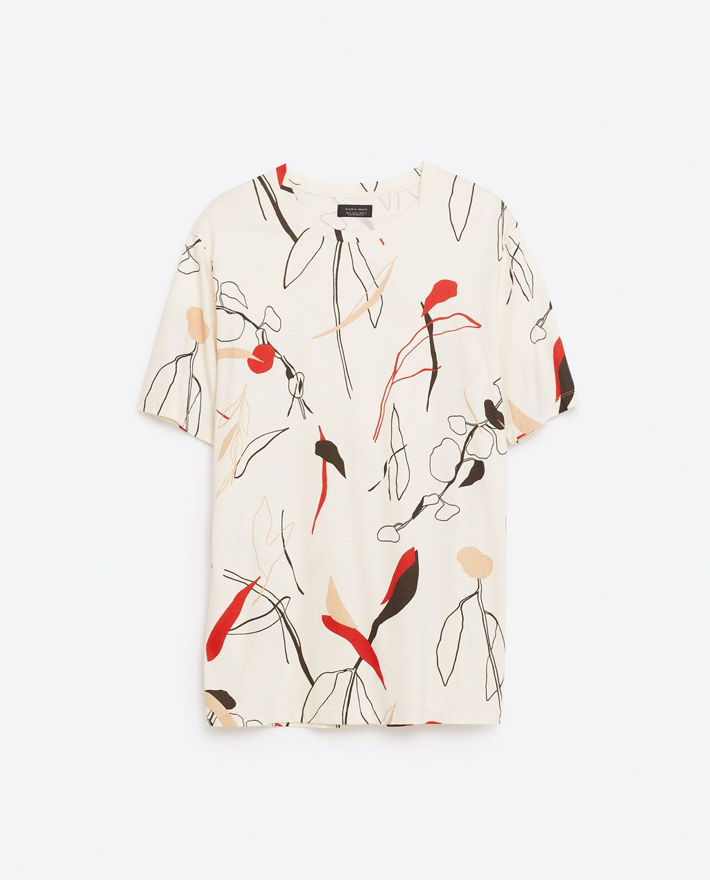 image 8 of leaves t shirt from zara clothing pinterest man