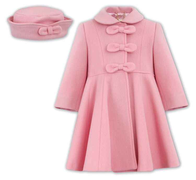 sarah-louise-girls-pink-dress-coat-with-bows-matching-hat-2.jpg ...