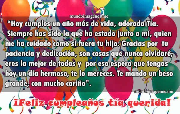 Feliz Aniversario Tia Espanol: Imagenes De Feliz Cumpleaños Tía Con Frases Y Palabras