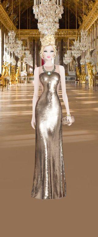 Gold dress, just amazing!!