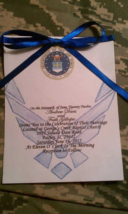 invitations for an Air Force wedding <3..again only if your thinking ...