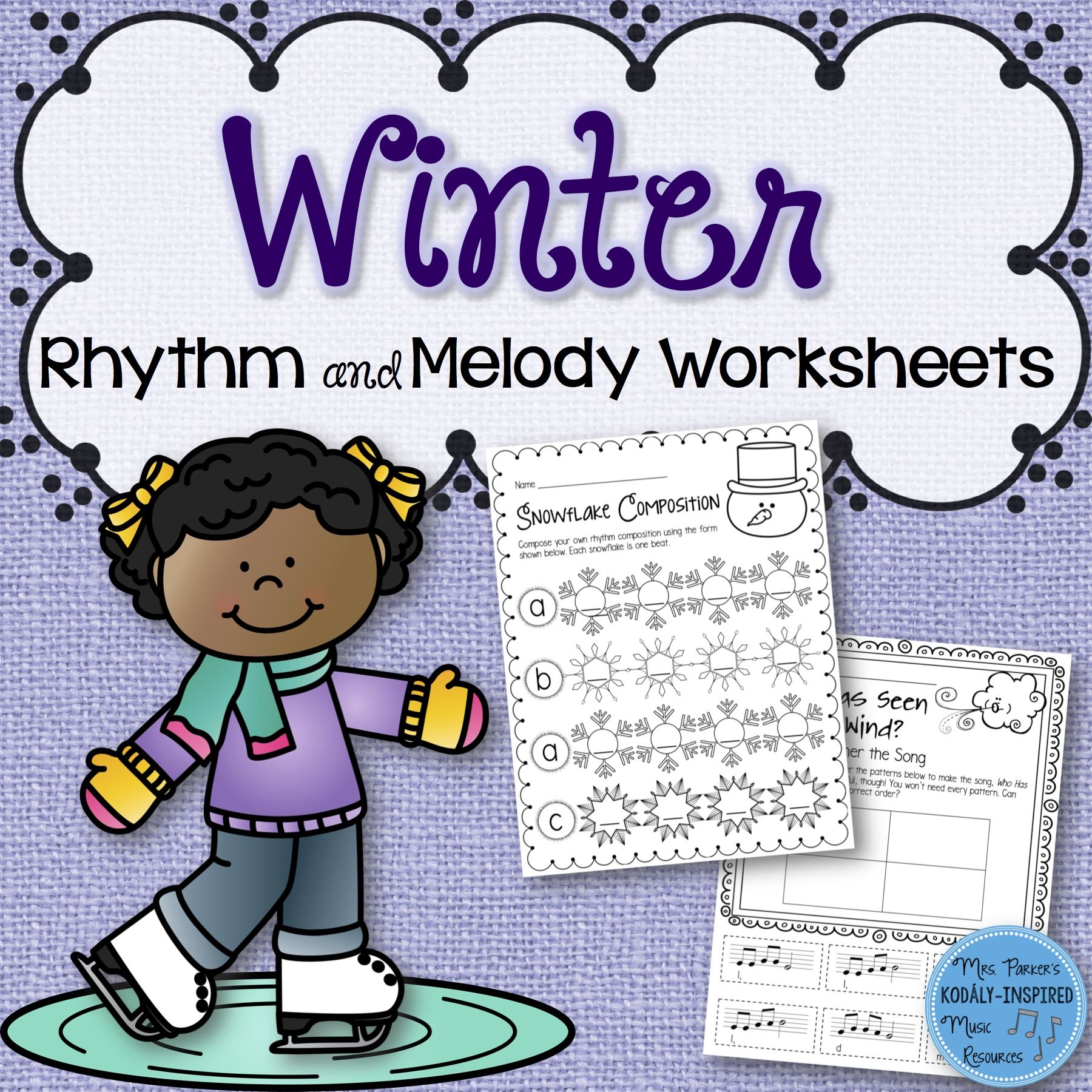 60 Rhythm And Melody Worksheets For The Wintertime Super