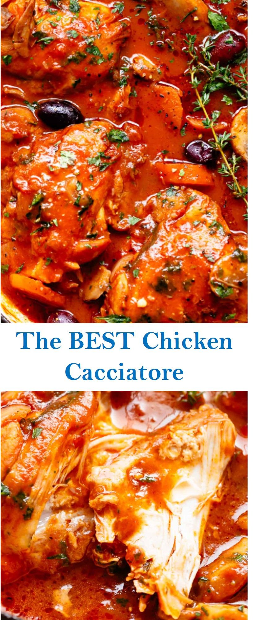 The Best Chicken Cacciatore Cacciatore Recipes Chicken Cacciatore Recipe Chicken Cacciatore
