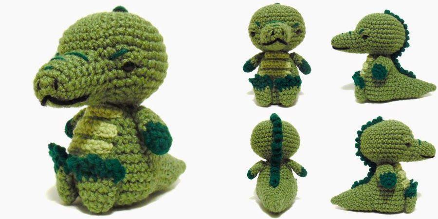 i crochet things: Free Pattern Friday: Sitting Alligator Amigurumi ...