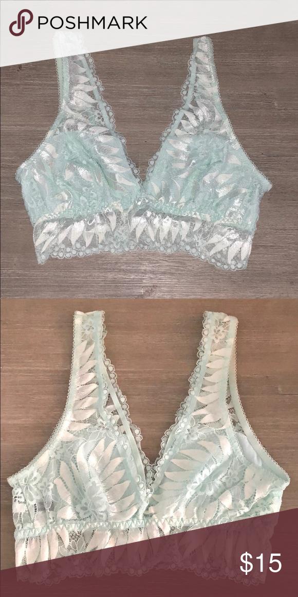e46c775eeef18 Aerie Bralette Beautiful pale blue lace bralette. Never worn. aerie  Intimates   Sleepwear Bras