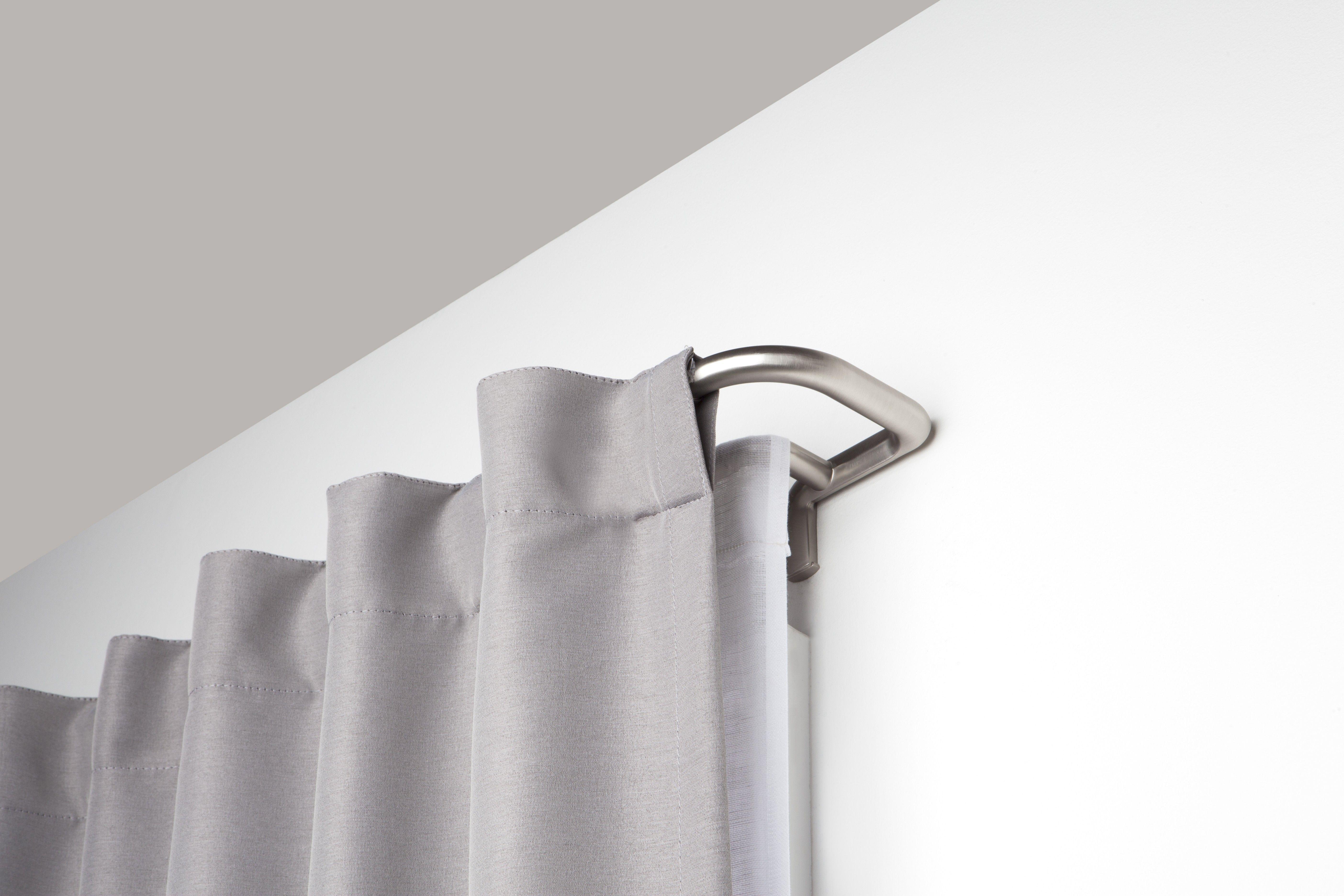 Twilight Double Curtain Rod Room Darkening Solution Nickel Double Rod Curtains Double Curtains Curtain Rods
