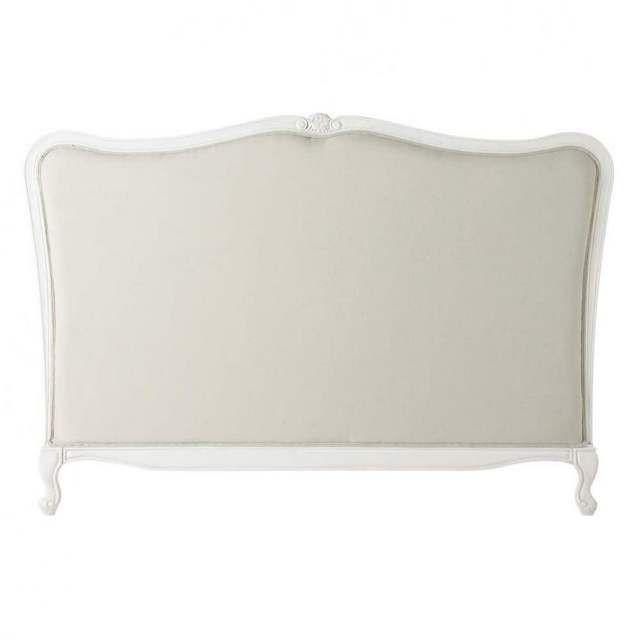 Testata da letto in massello di legno e cotone L 160 cm