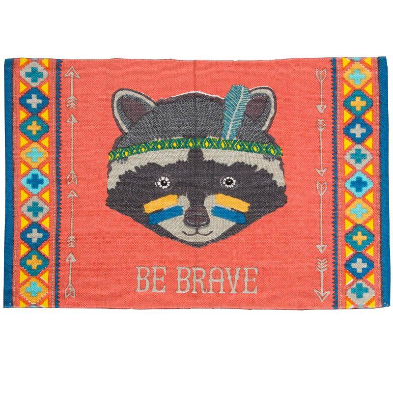 Be Brave Raccoon Animal Adventure Rug