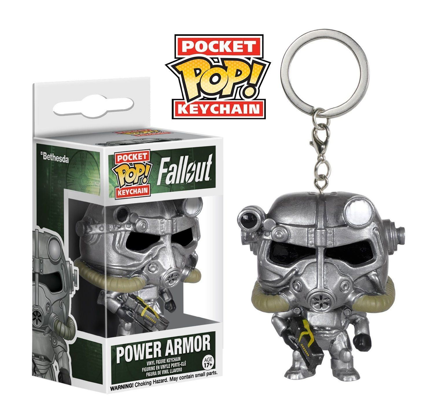T-60 Power Armor Pocket Pop Vinyl--Fallout Keychain Pop