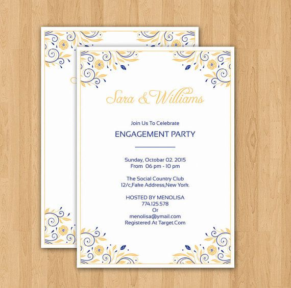 Engagement Party invitation Template DIY by WeddingTemplateStock - engagement party invitation template