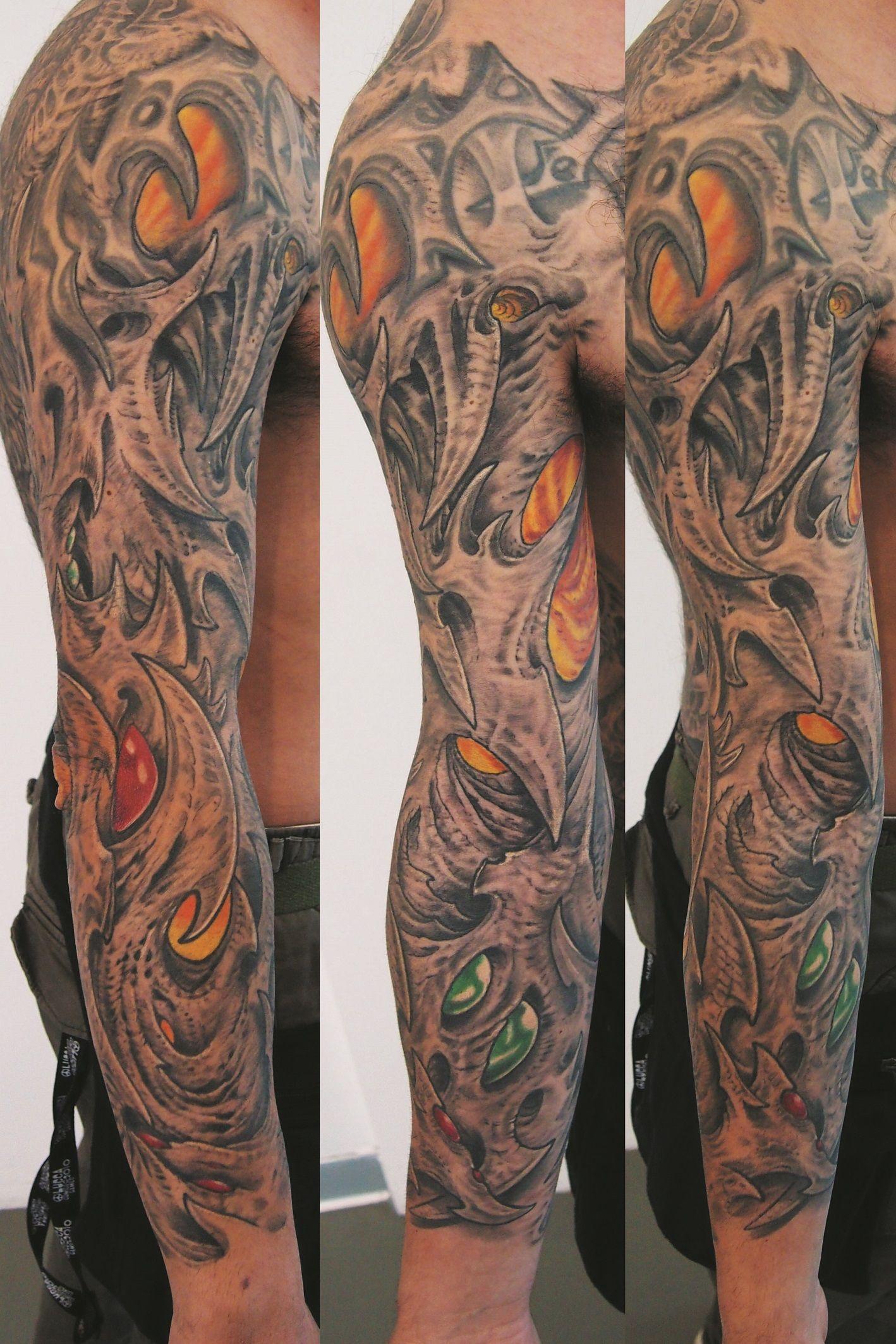 bio organic sleeve tattoo, federico benedetti Sleeve
