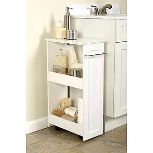 Storage Solution For Small Spaces Slim Rolling Cart For
