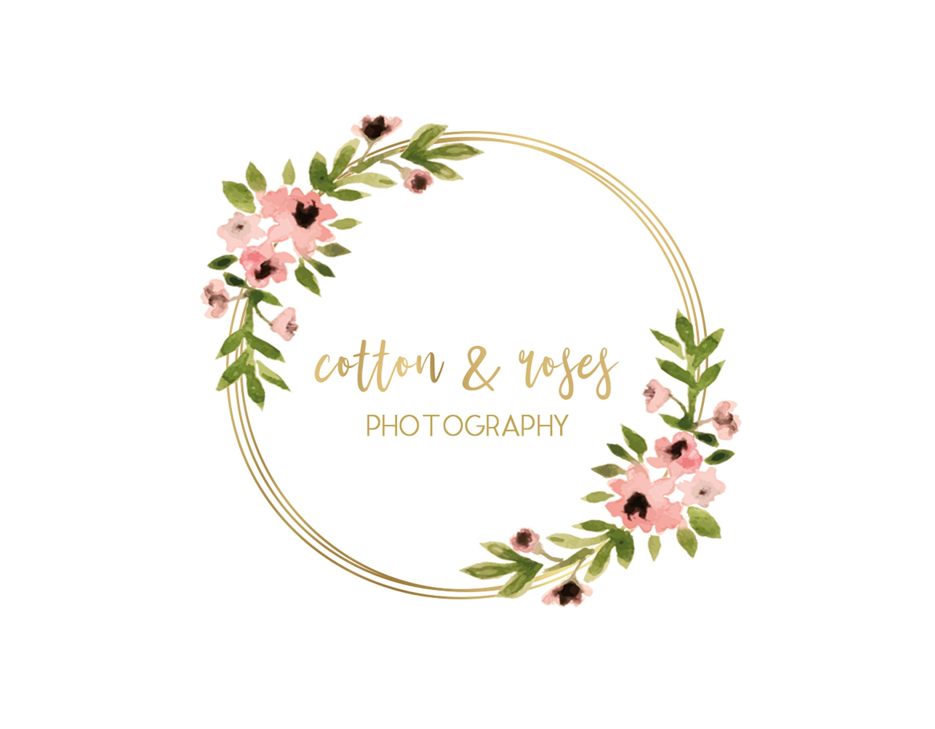 Premade Logo Watercolor Logo Blog Logo Blog Header