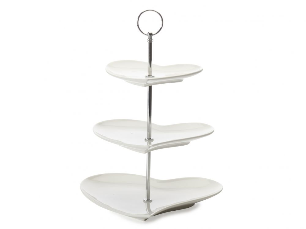 Maxwell And Williams White Basics Heart 3 Tier Cake Stand Tiered Cake Stand Heart Shaped Cakes 3 Tier Cake Stand
