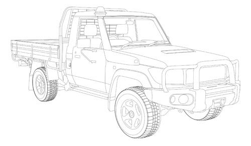 Automotive illustration. Landcruiser Heritage