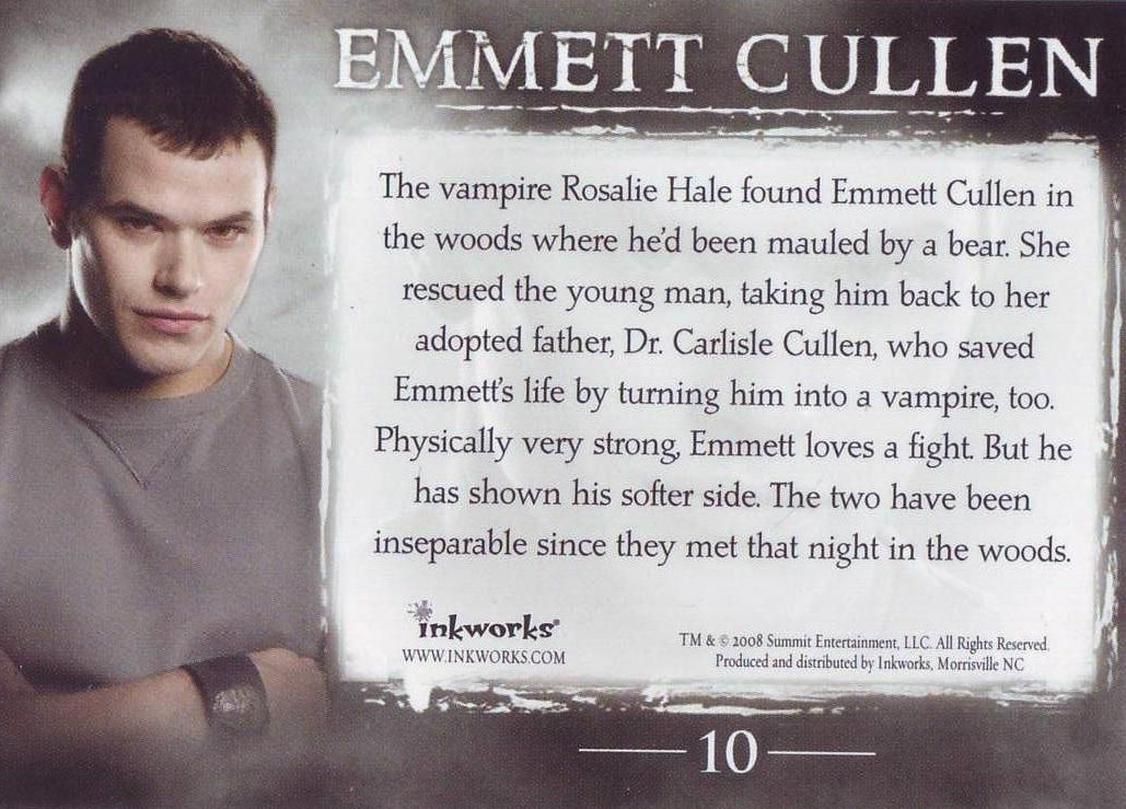 Emmett Cullen 02 Twilight Facts Twilight Saga Twilight