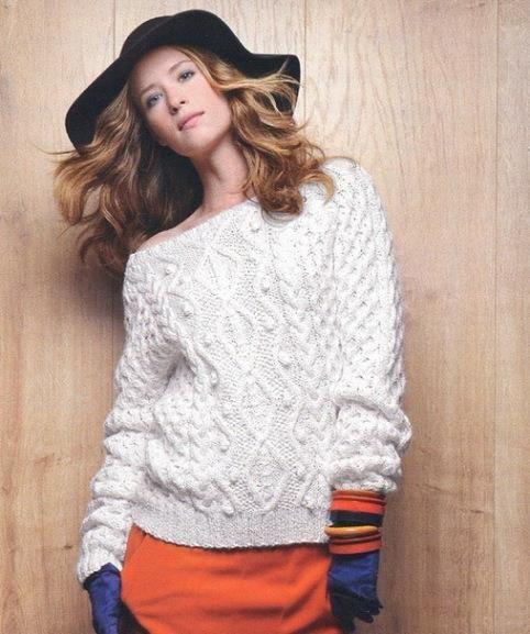 модные вязанные женские свитера фото брендовая одежда белый