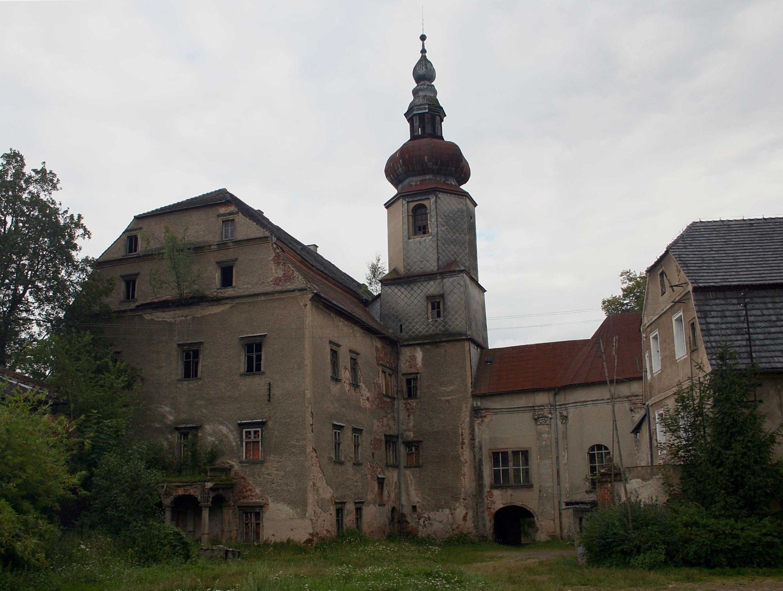 Schloss Scharfeneck (Dwór Sarny) in Niederschlesien