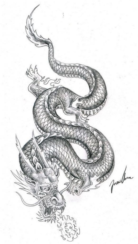 72 Best Tattoo Design Drawings 2020 Chinese Dragon Tattoos