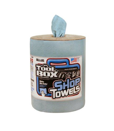 Sellars 55207 Toolbox Z400 Big Grip Refill Shop Towel 13 Length X 10 Width Blue 6 Rolls Of 200 Sheets Shop Towels Tool Box Towel