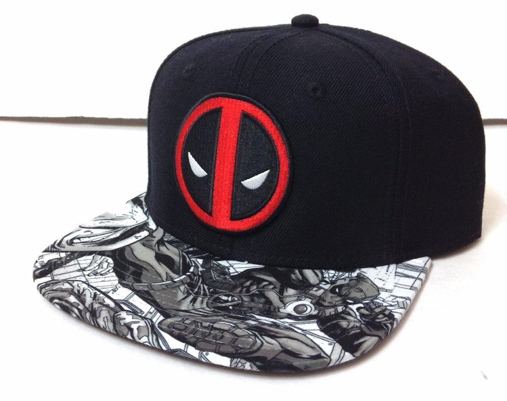 fb65d1a39ee7a5 DEADPOOL SNAPBACK HAT Black/Red/Gray/White Flat-Bill Marvel Comic  Men/Women/Teen #Marvel #BaseballCap