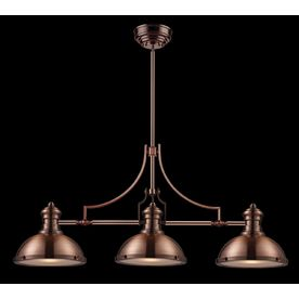 Westmore Lighting Chiserley 47 In W 3 Light Antique Copper