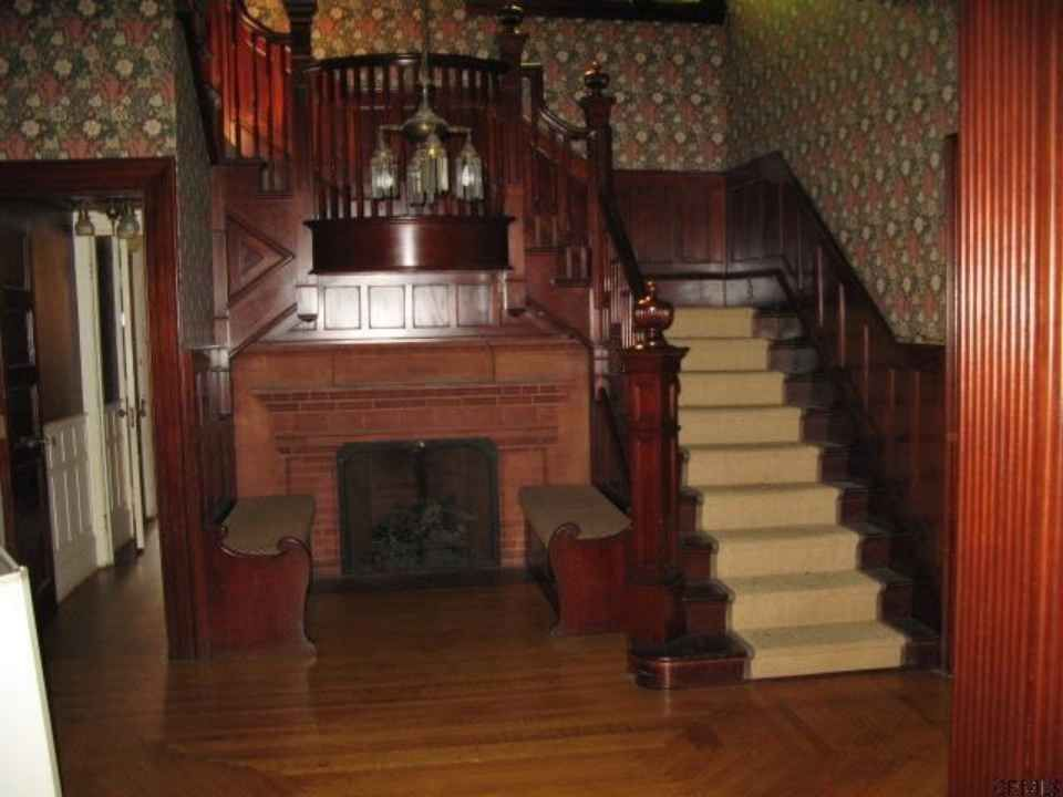 Victorian Mansion Foyer : Love the built in benches schenectady ny victorian