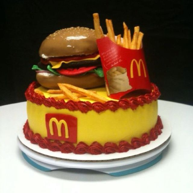 Mcdonalds Cake I Dont Eat At Mcdonalds But Might Try To Do This