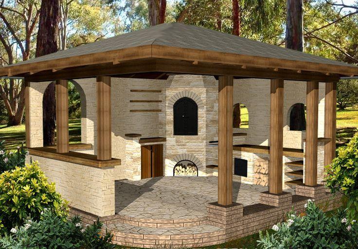 Wedzarnia Piec Chlebowy Grill Projekty 4450035120 Allegro Pl Wiecej Niz Aukcje Backyard Fireplace Outdoor Fireplace Patio Backyard Patio Designs
