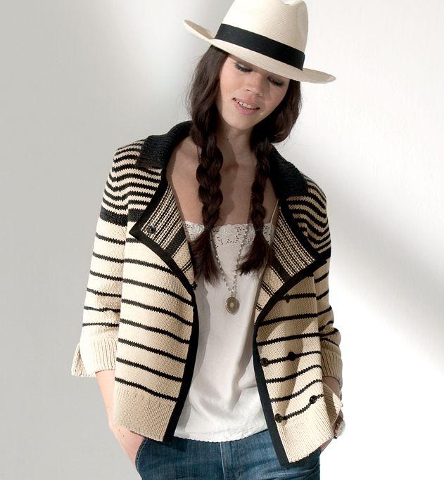 modele tricot veste classique