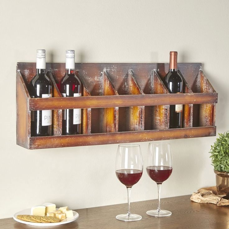 diy wall wine glass rack