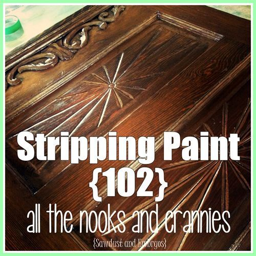 Paint furniture. Tutorial on Stripping the Cracks and Crevices of your DETAILED