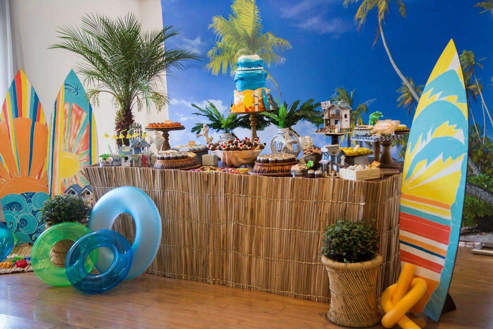 как украсить гавайскую вечеринку фото простая пресноводная