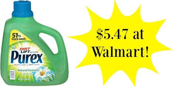 Walmart Purex Laundry Detergent Big Bottles As Low As 3 97