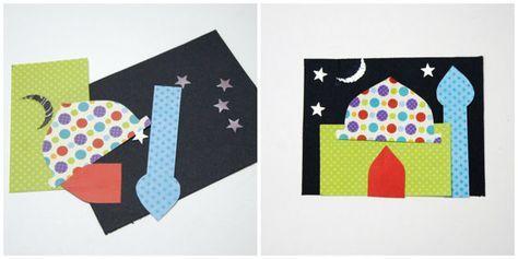 Masjid Card Making Kit Eid Party Favour Eid Al By Hafsacreates