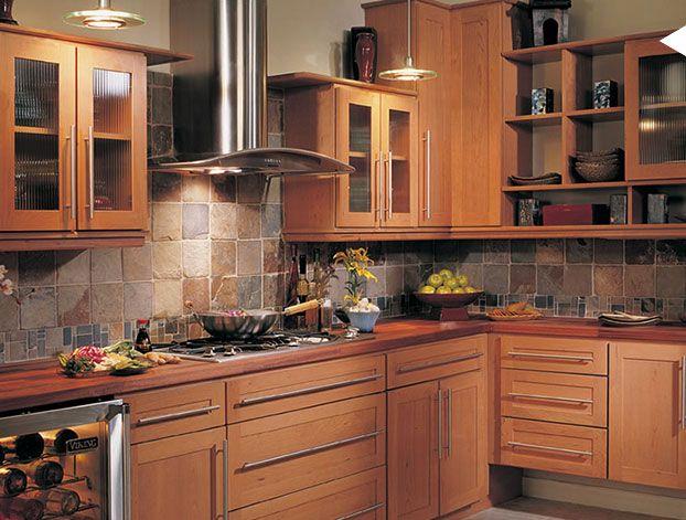 Cherry Kitchen Cabinets Google Images Kitchen Remodel Cherry Cabinets Kitchen Kitchen Cabinets