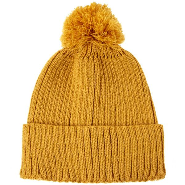 c1d50e9865ad17 ASOS Bobble Beanie Hat (10 CAD) ❤ liked on Polyvore featuring mens, men's  accessories, men's hats, accessories and hats