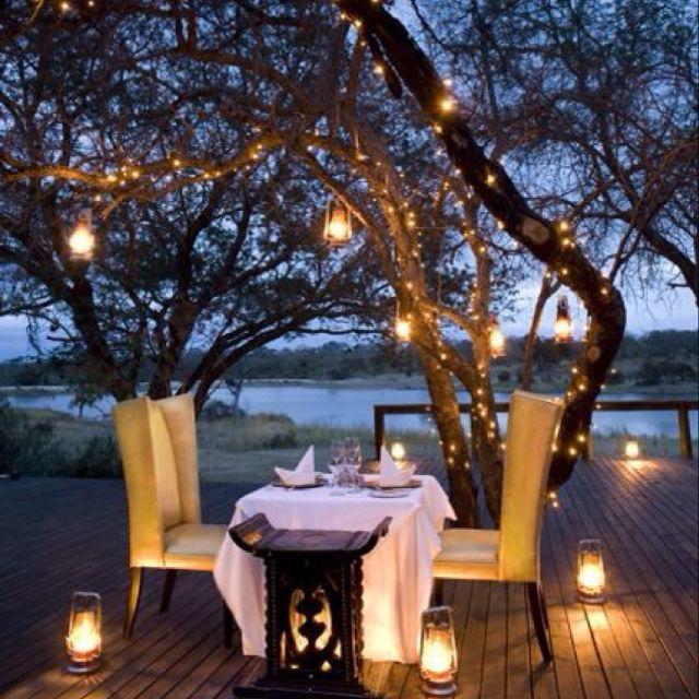 Romantic twinkle lights in tree   Backyard, Outdoor, Patio