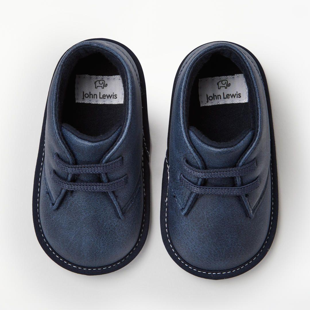 John Lewis & Partners Baby Desert Boot Shoes, Navy ...